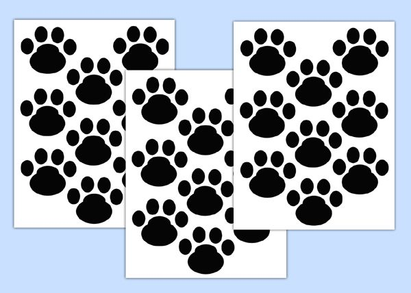 Dog Paw Print Wall Art Decal Nursery Animal Tracks Puppy Sticker Decampstudios
