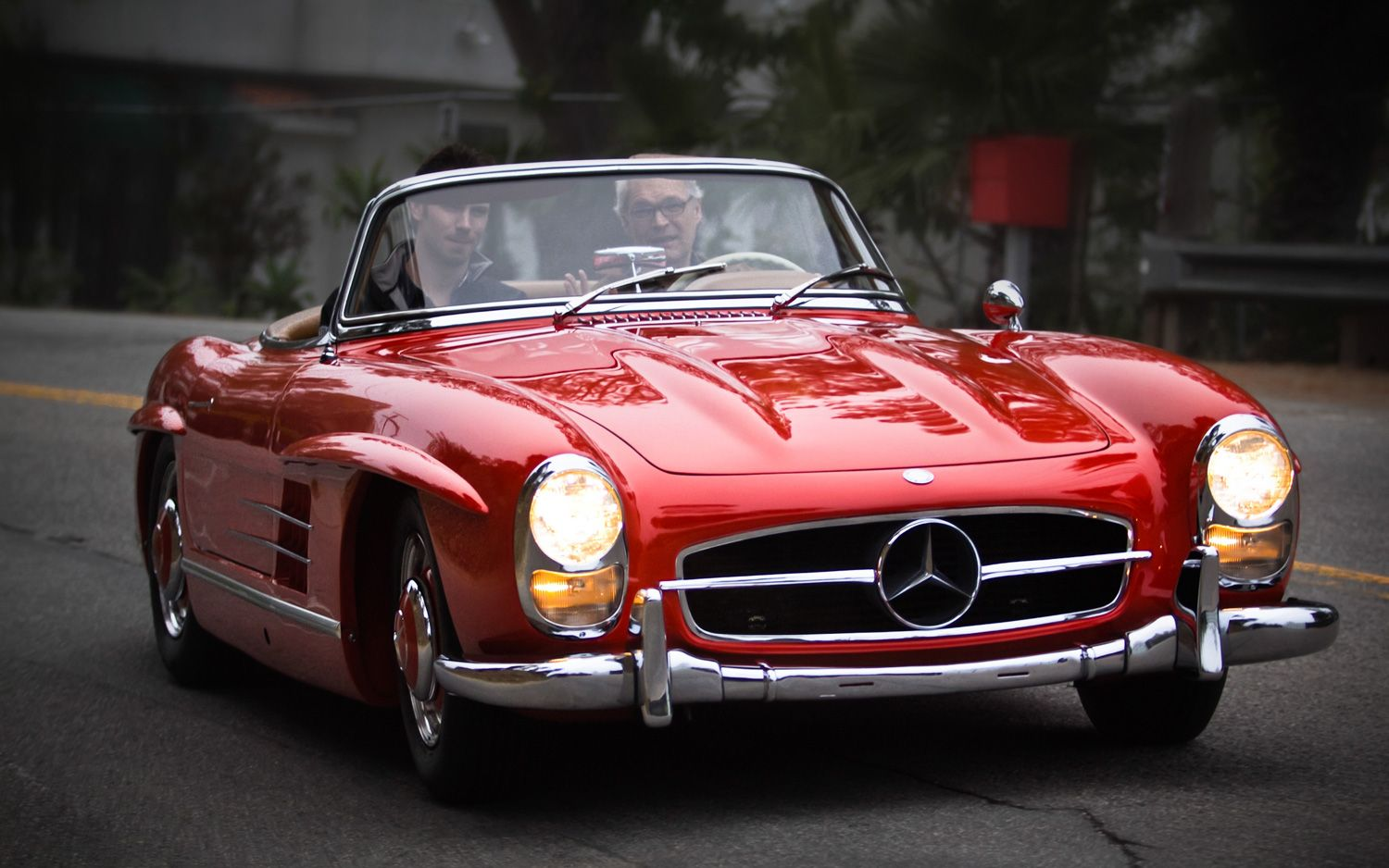1960 mercedes benz 300sl front three quarters in motion for 1960 mercedes benz