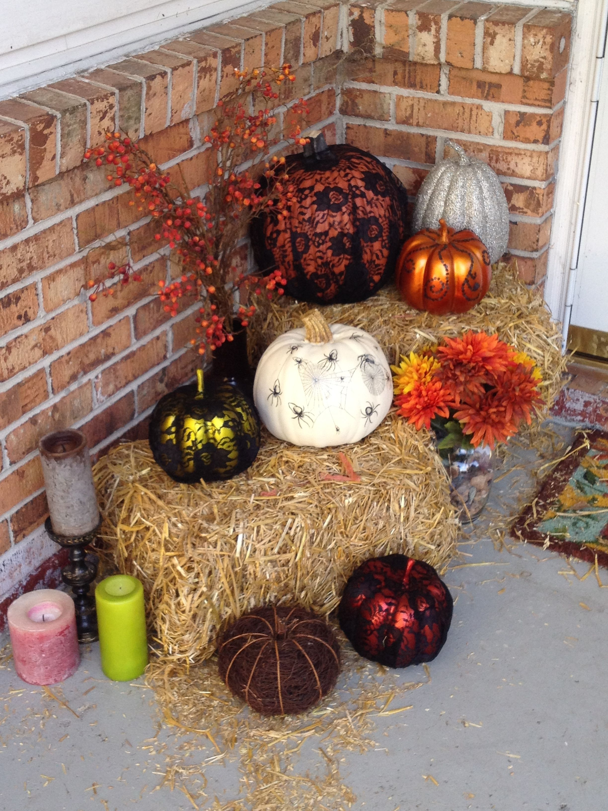 Homemade Halloween decorations Using lace, upholstery tacks and - Homemade Halloween Decorations
