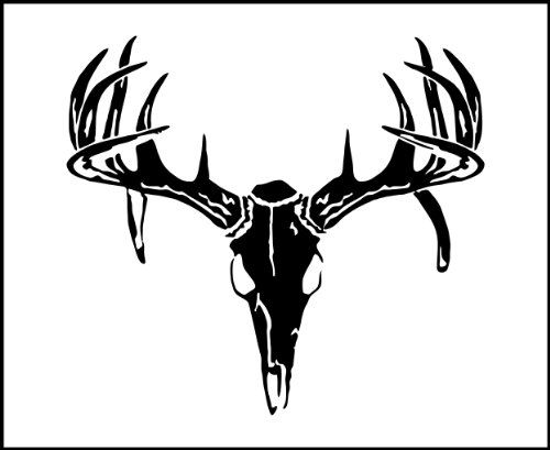 Deer Skull Logo Decal Hunting Outdoors Deer