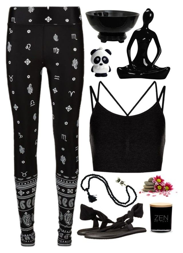 Health Goth Yoga Outfit By Blackbettyblog On Polyvore Featuring The Upside Sweaty Betty Sanuk And Damselfly