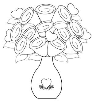 Valentine 39 s day coloring pages holidays celebrations for Beatrice doesn t want to coloring page