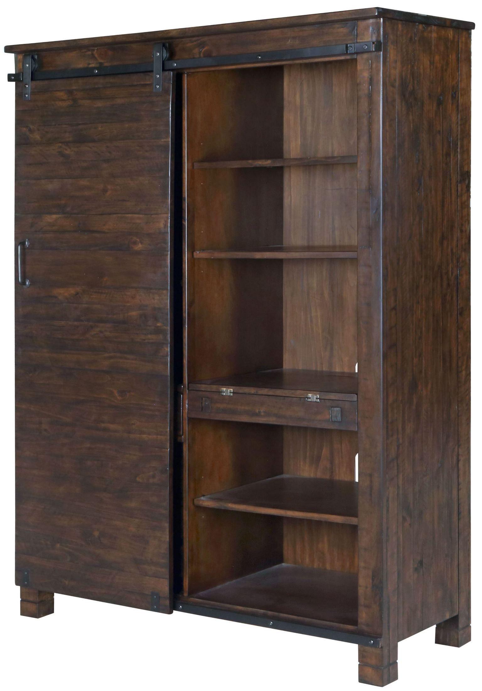Pine Hill Rustic Pine Door Bookcase