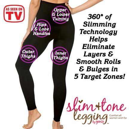 Black Slim & Tone Leggings by Genie from Fresh Finds on Catalog Spree, my personal digital mall.
