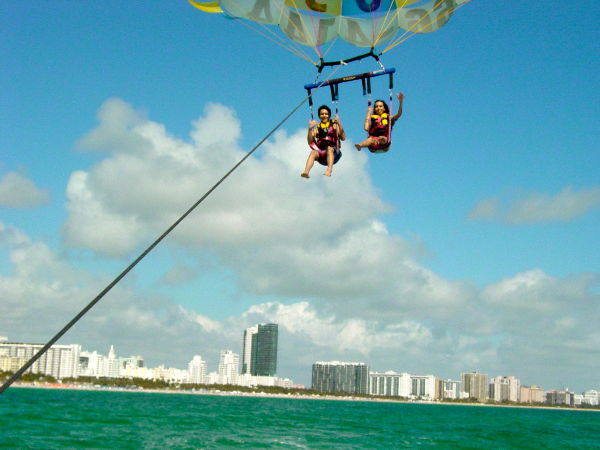 Parasailing In South Beach Miami