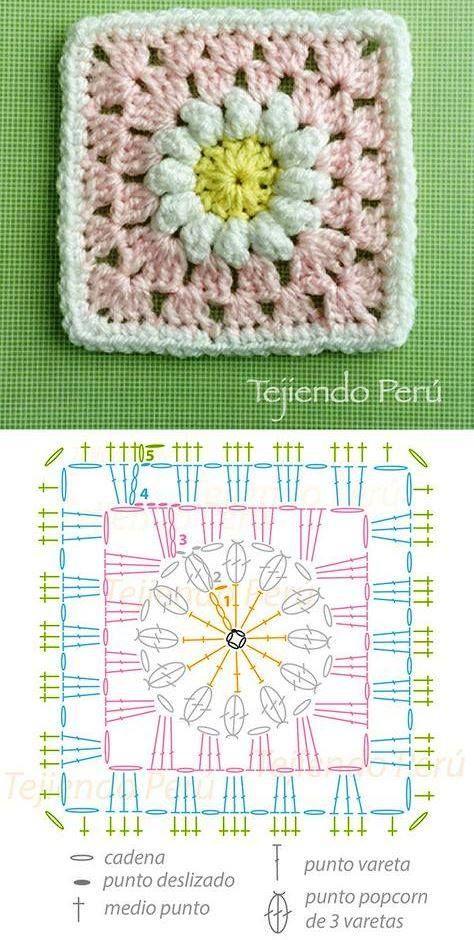 Pin von Amália Juhász auf kocka | Pinterest | Decken und Häkeln