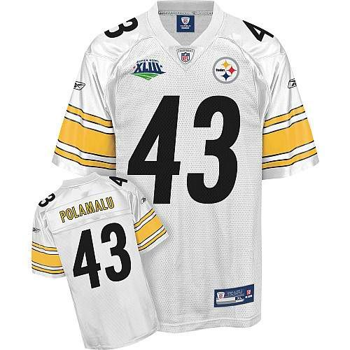 sale retailer 9990e 0c127 Troy Polamalu Jersey, Super Bowl XLIII #43 Pittsburgh ...