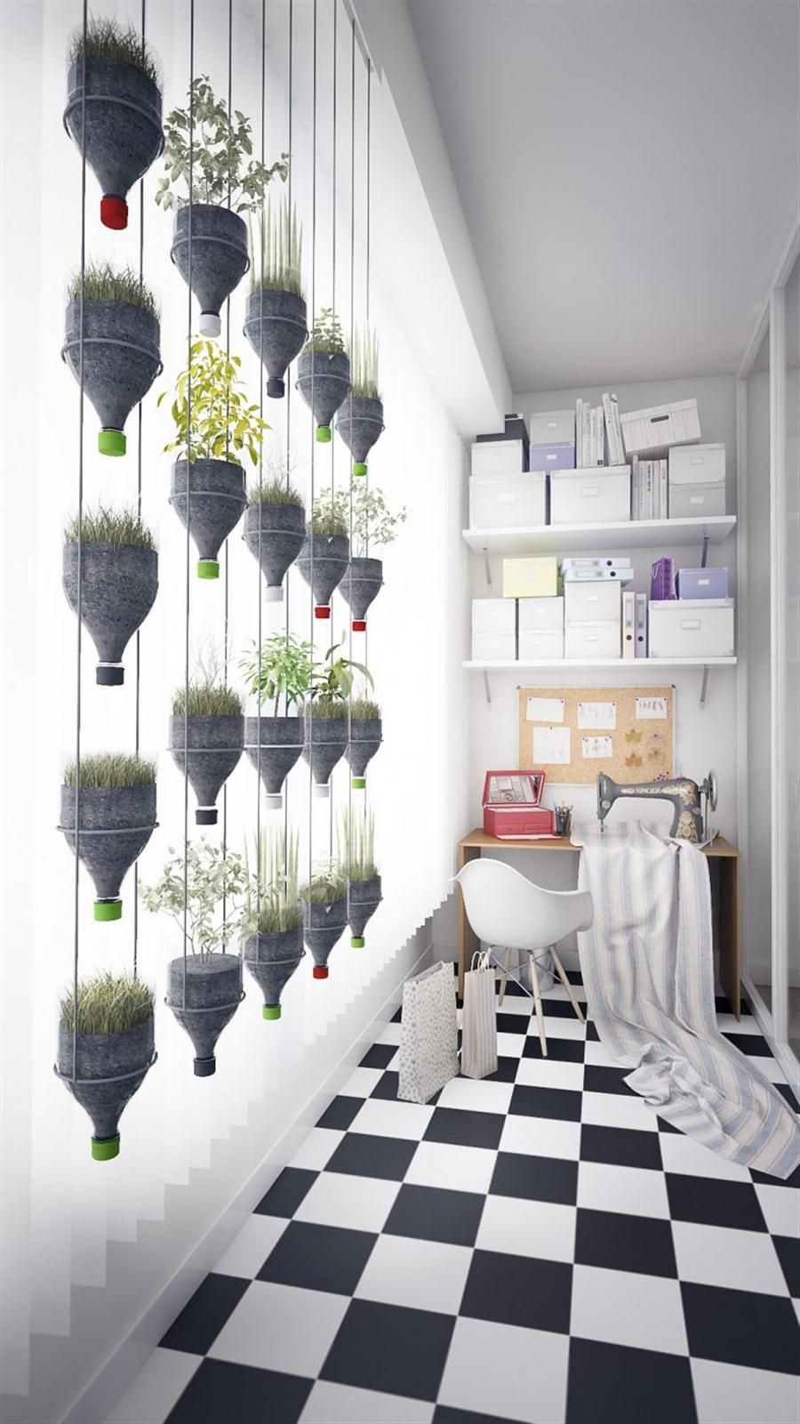Hanging potted plants using reused bottles! great idea! | Make ...