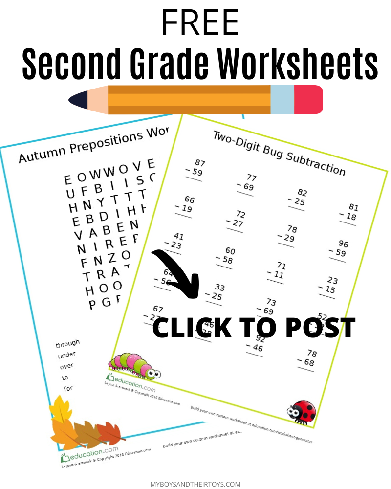 Free Printable 2nd Grade Worksheets My Boys And Their Toys Free Educational Printables 2nd Grade Worksheets Educational Printables [ 1000 x 800 Pixel ]
