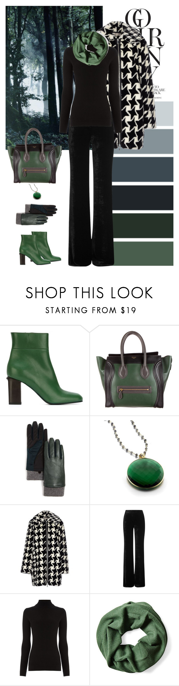 """""""Hues of Deep Forrest"""" by dezaval ❤ liked on Polyvore featuring Marni, CÉLINE, U