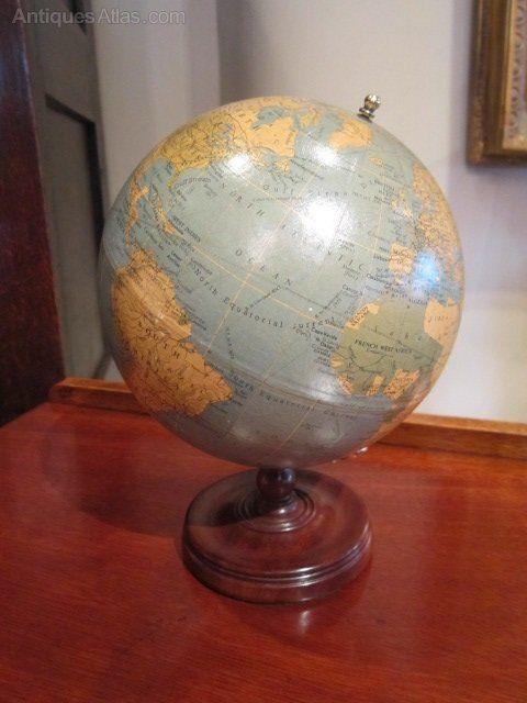 Antiques Atlas - Rare Miniature Phillips Library Globe - Antiques Atlas - Rare Miniature Phillips Library Globe Cool Stuff