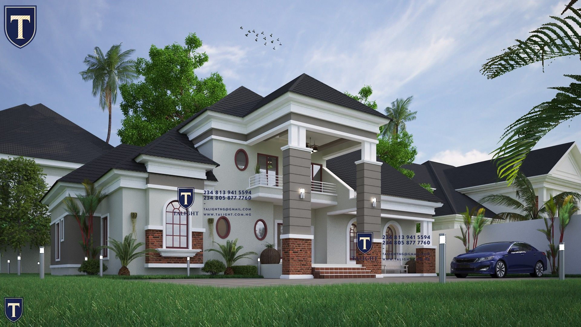 Five Bedroom Bungalow Plan With Spacious Interiors And Modern Outlook As Mainstream Architecture Bungalow Design Architect Design House Bungalow House Design