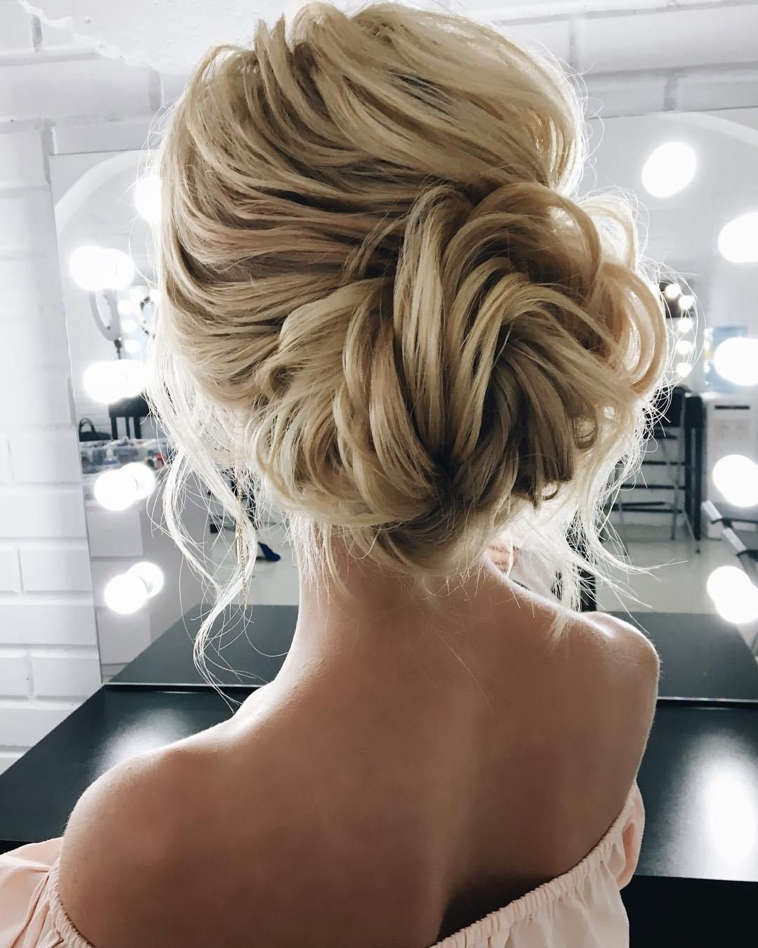 Fabulous textured updo hairstyle