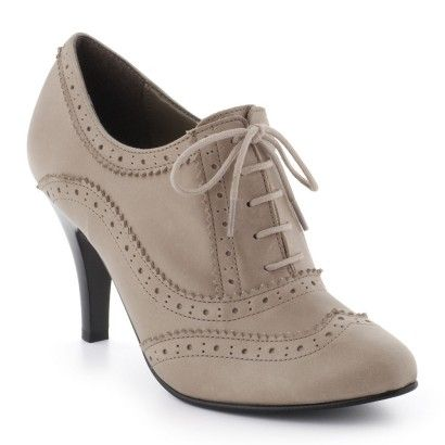 Chaussures à lacets Cuir taupe La halle aux chaussures | Shoes