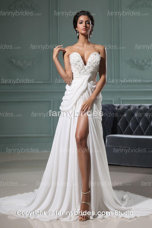 white evening dress - Dress Yp
