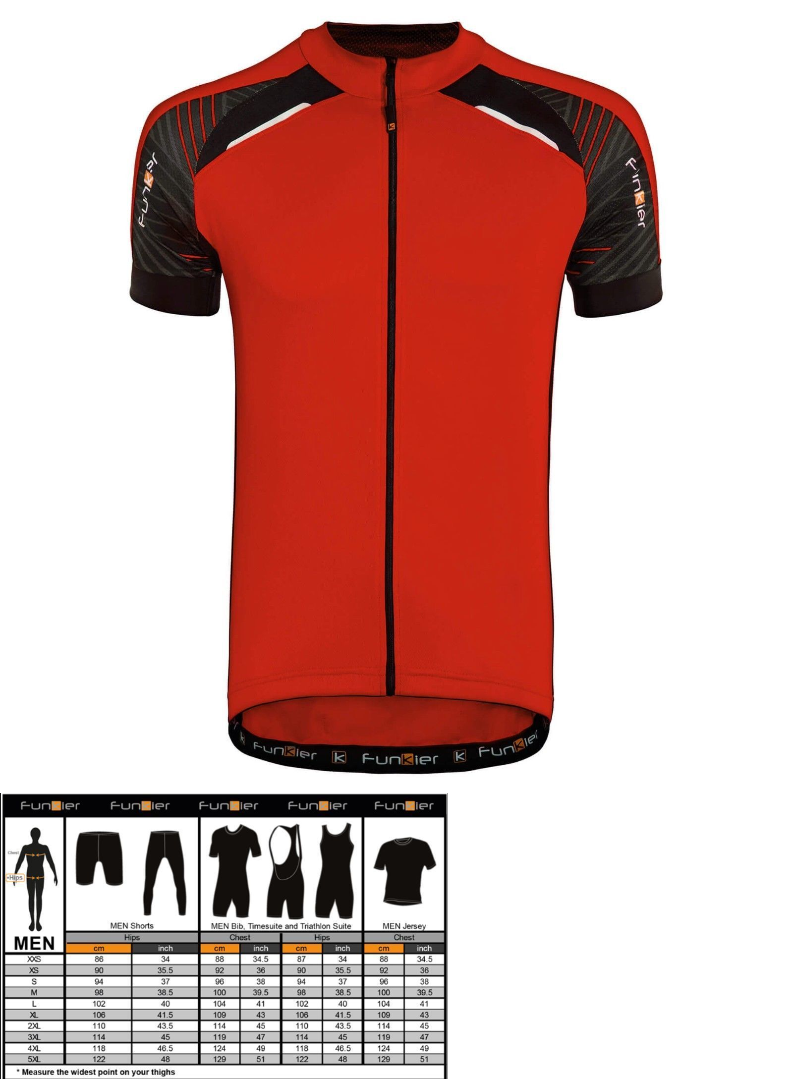 Cycling Clothing 158990  New Funkier Gents Short Sleeve Cycling Jersey Red  J730-5 -  BUY IT NOW ONLY   24.95 on  eBay  cycling  clothing  funkier   gents ... 1a4cd43cd