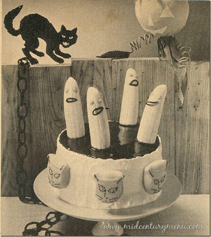 Banana Spook Cake – A Vintage Halloween Recipe Test | Vintage ...