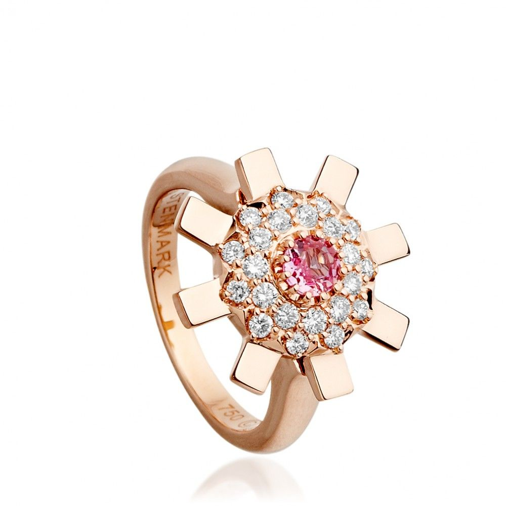 The new colourway of my Sun Ray ring in rose gold diamonds and