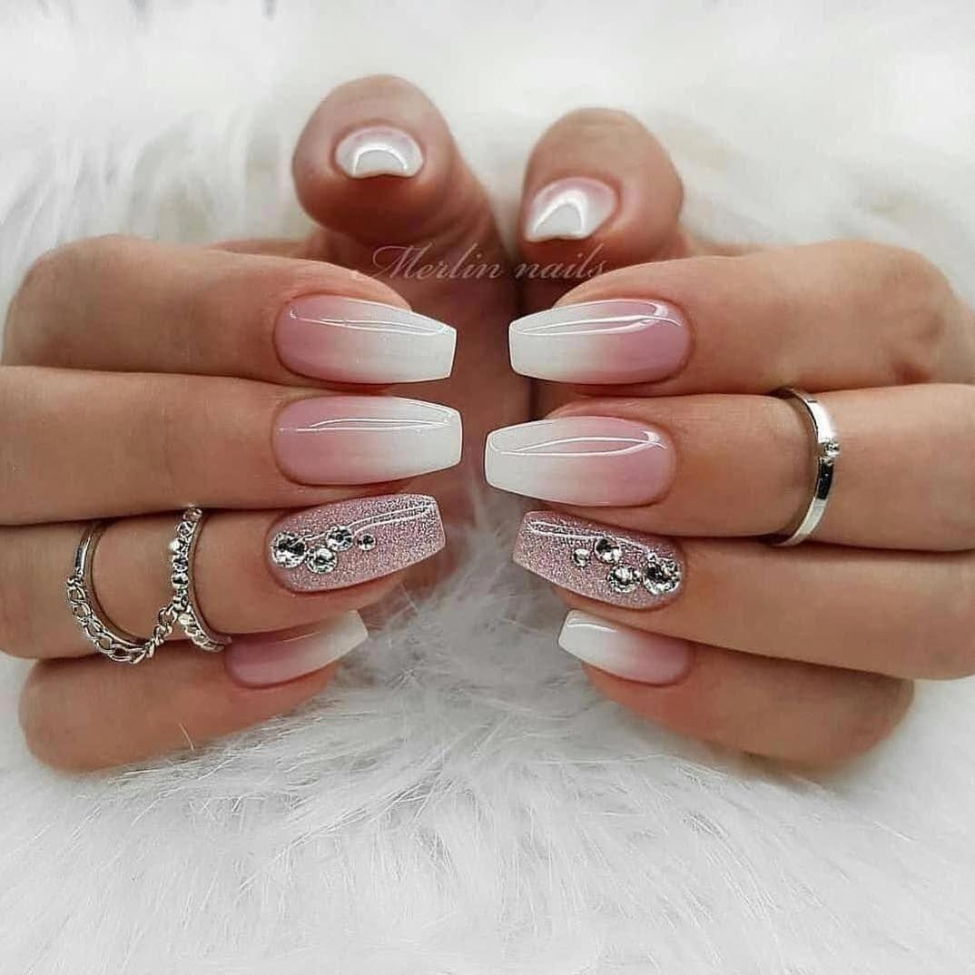 summer nails acrylic nails nails fall pink nails nails spring nails winter coffi…