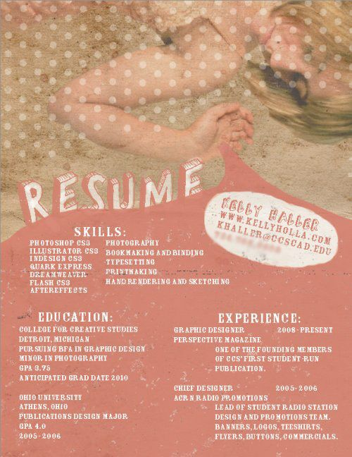 Resume by Kelly Haller A newly designed resume for my business