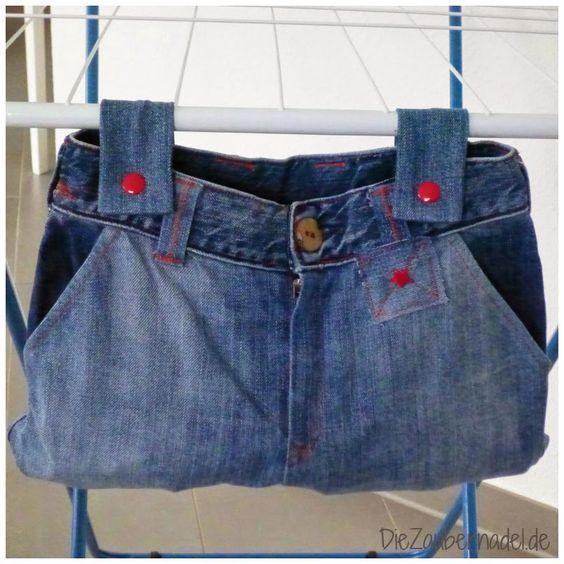 Kinderjeans wird Klammerbeutel / Kids\' jeans becomes peg bag ...