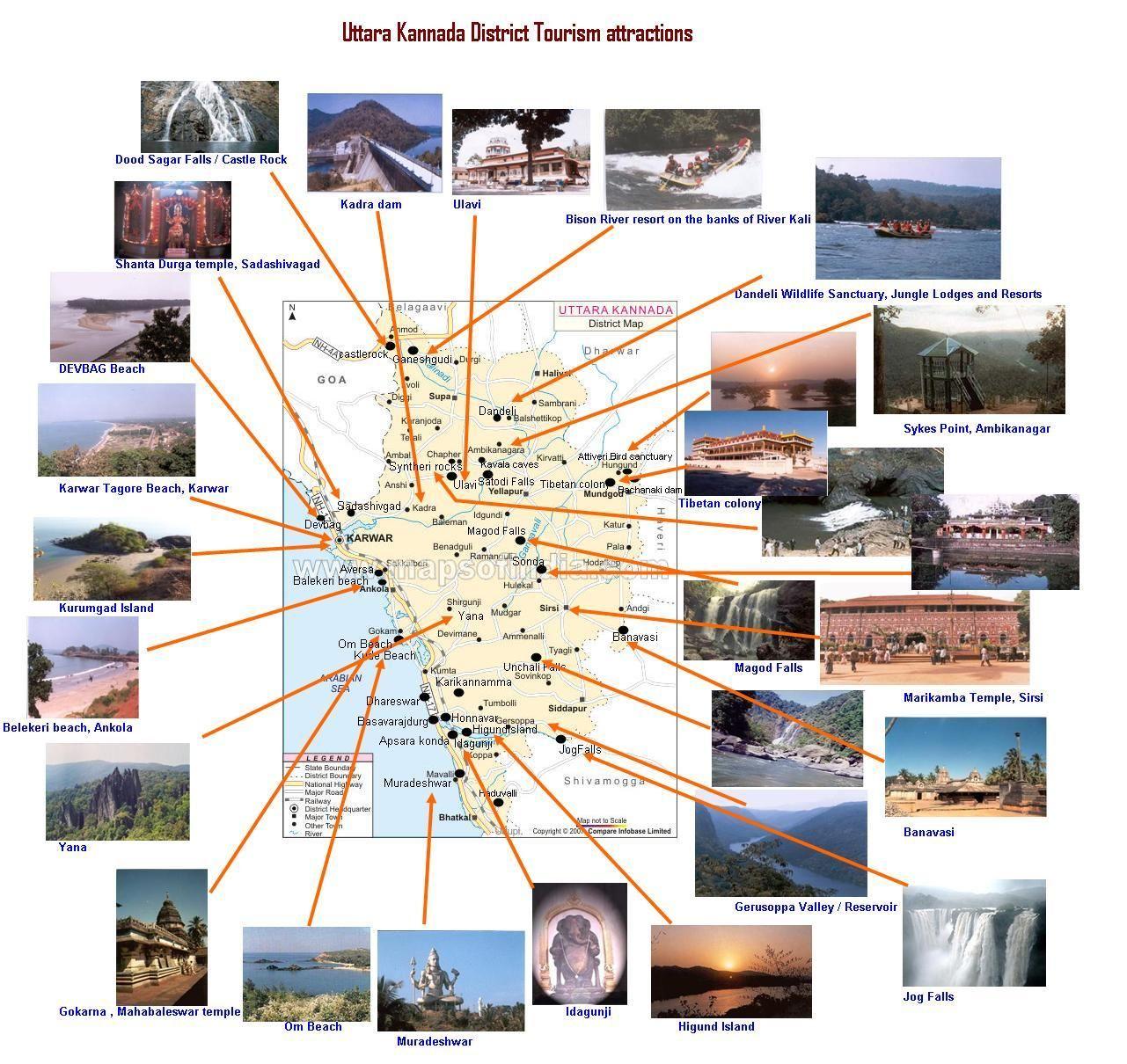 FileUttara Kannada District Tourism MapJPG KarnatakaMysore