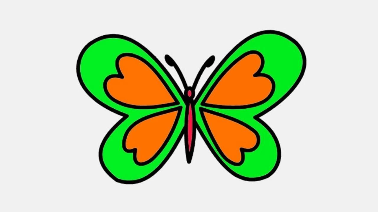 Butterfly Drawing And Coloring Butterfly Drawing Easy Butterfly Drawing Butterfly Line Drawing