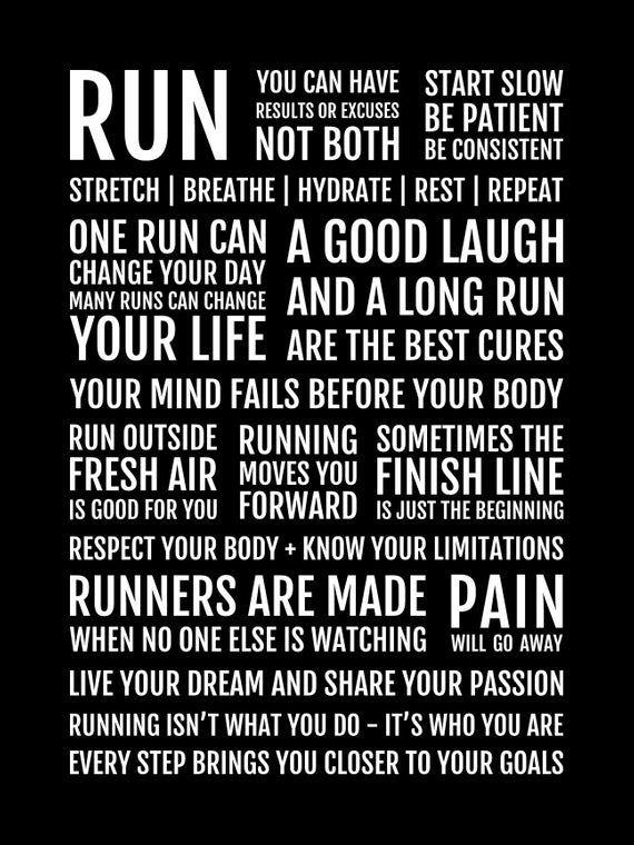 Photo of Runner's Manifesto Print – Running Gift for Women of Men, Motivational Running Quotes, Runner Motivation Poster, Marathon Runner Gifts, 26.2