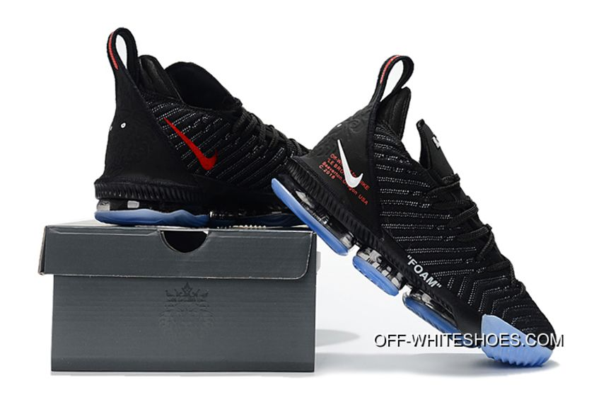 Off-White X Nike LeBron 16 Black New