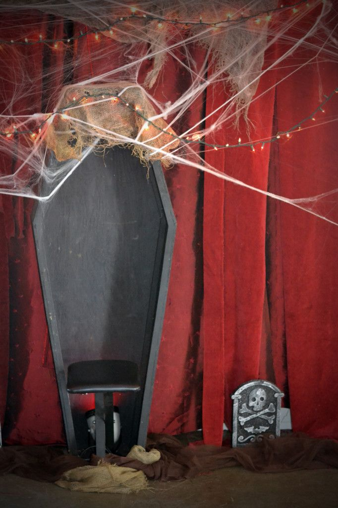 coffin photo booth