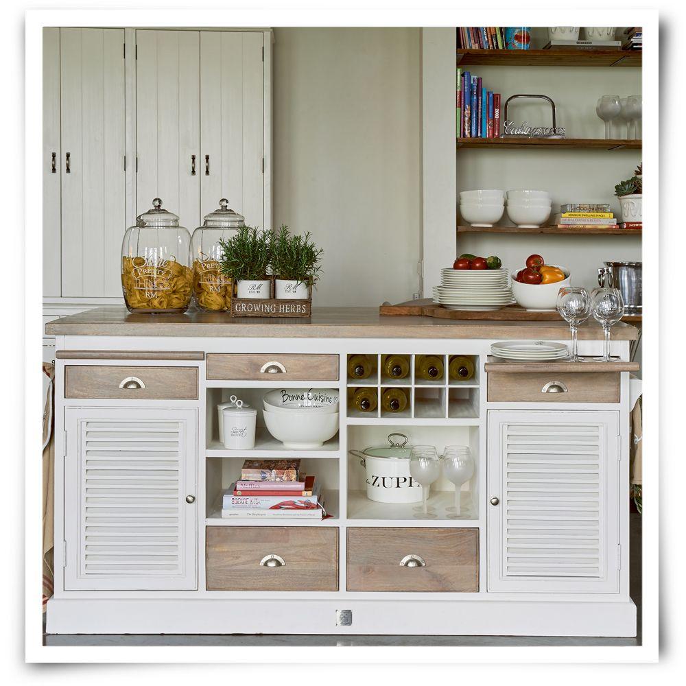 Riviera Maison Long Key Kitchen Island Cabinet Kjokken