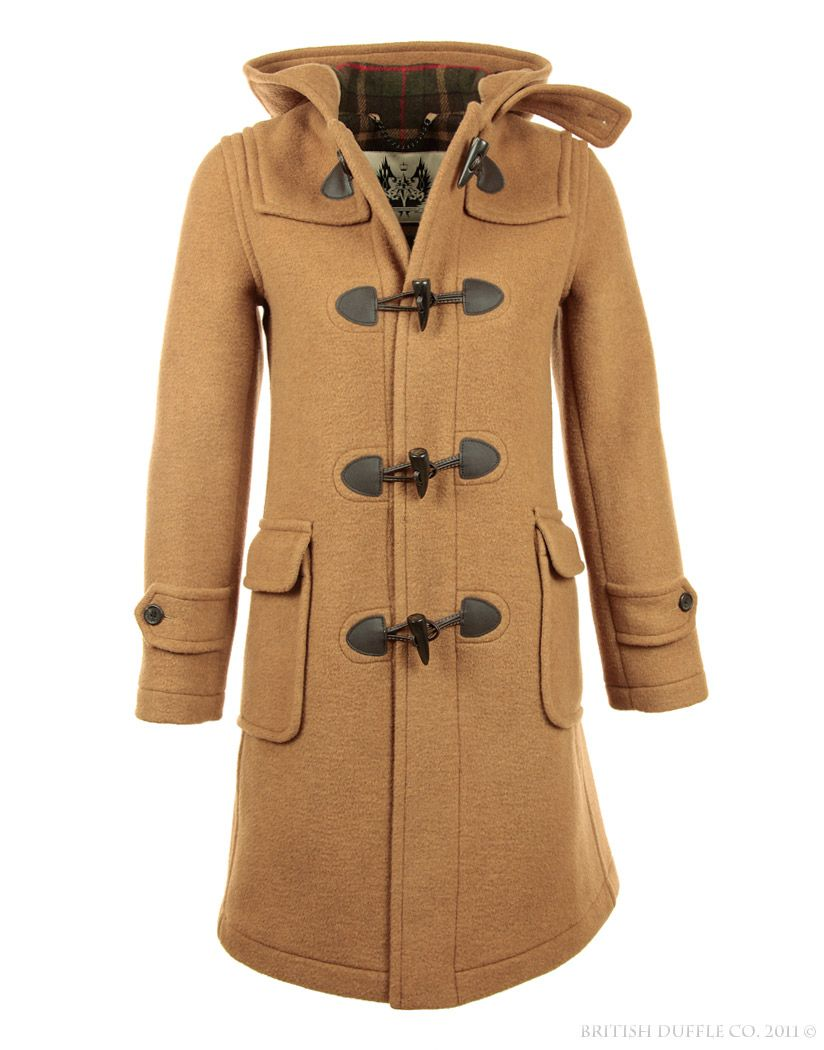 British Duffle Women's Made in England Long Duffle Coat - Camel ...