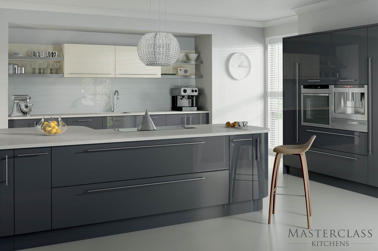Kitchen Related Post With High Gloss Light Grey Kitchen