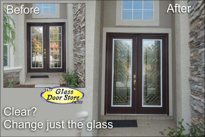 Did Your Builder Select Just Clear Glass For Your Front Door Decorative Glass Door Inserts Can Resolve May Clear Glass Glass Decor Glass Door Glass Fish Bowl