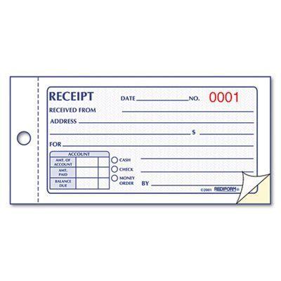 Book Money Receipt Dup Free Receipt Template Receipt Money