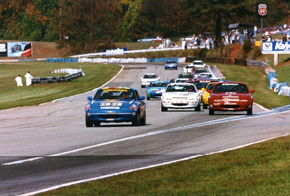 Car 102 25th race car 1990 Mazda Miata Road Atlanta