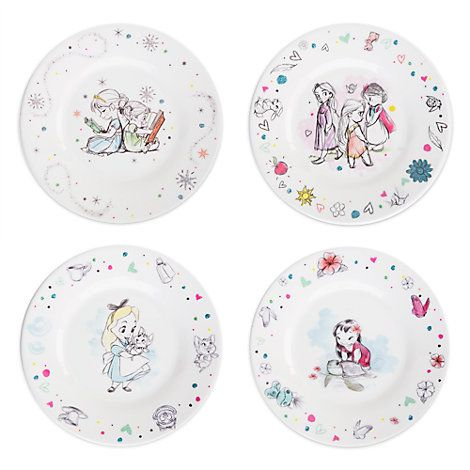 disney animators collection plate set little girl s toys pinterest