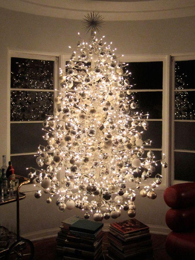 all white christmas tree