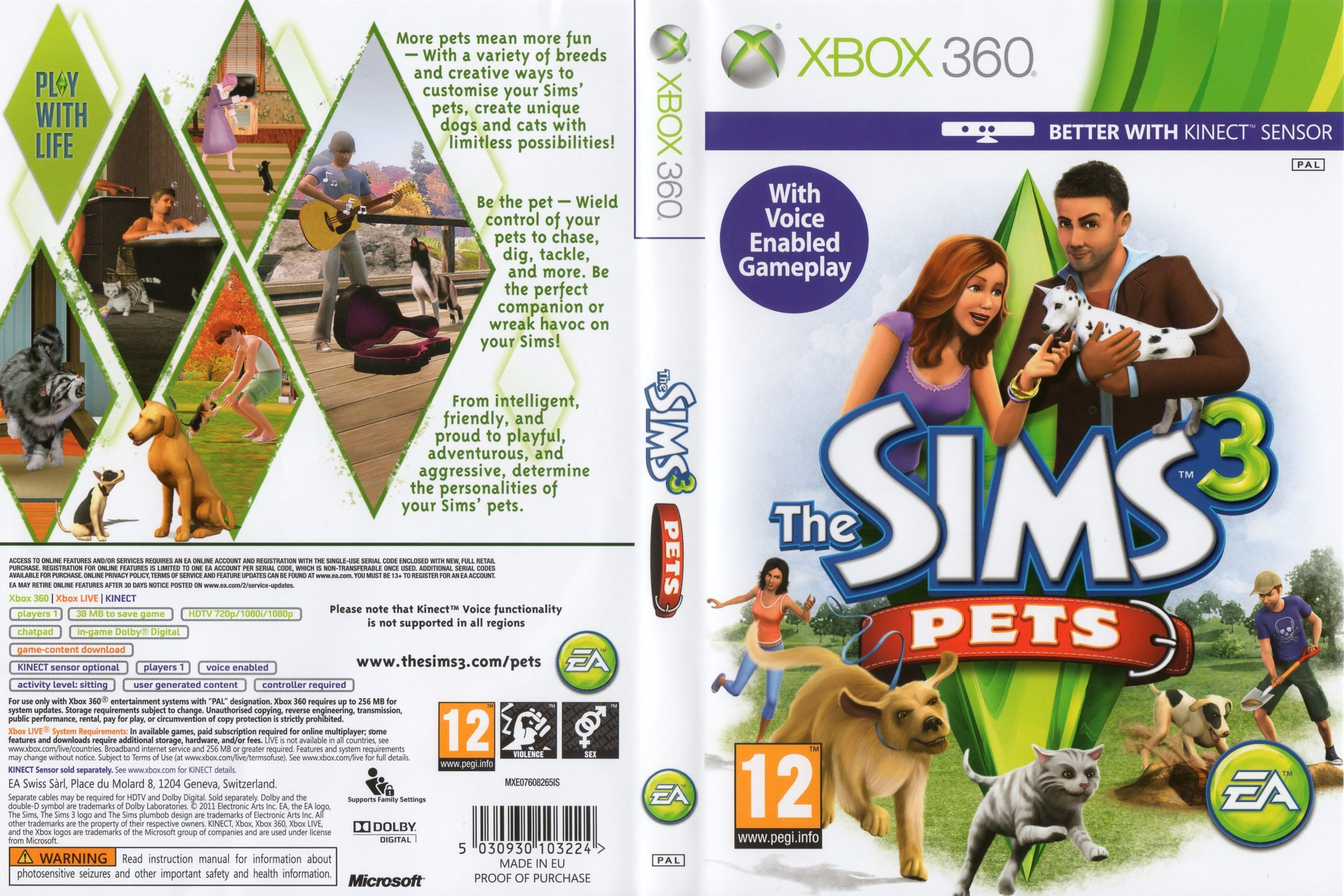sim 3 covers the sims 3 pets xbox 360 front dvd cover game sims the sims 3 pets pets