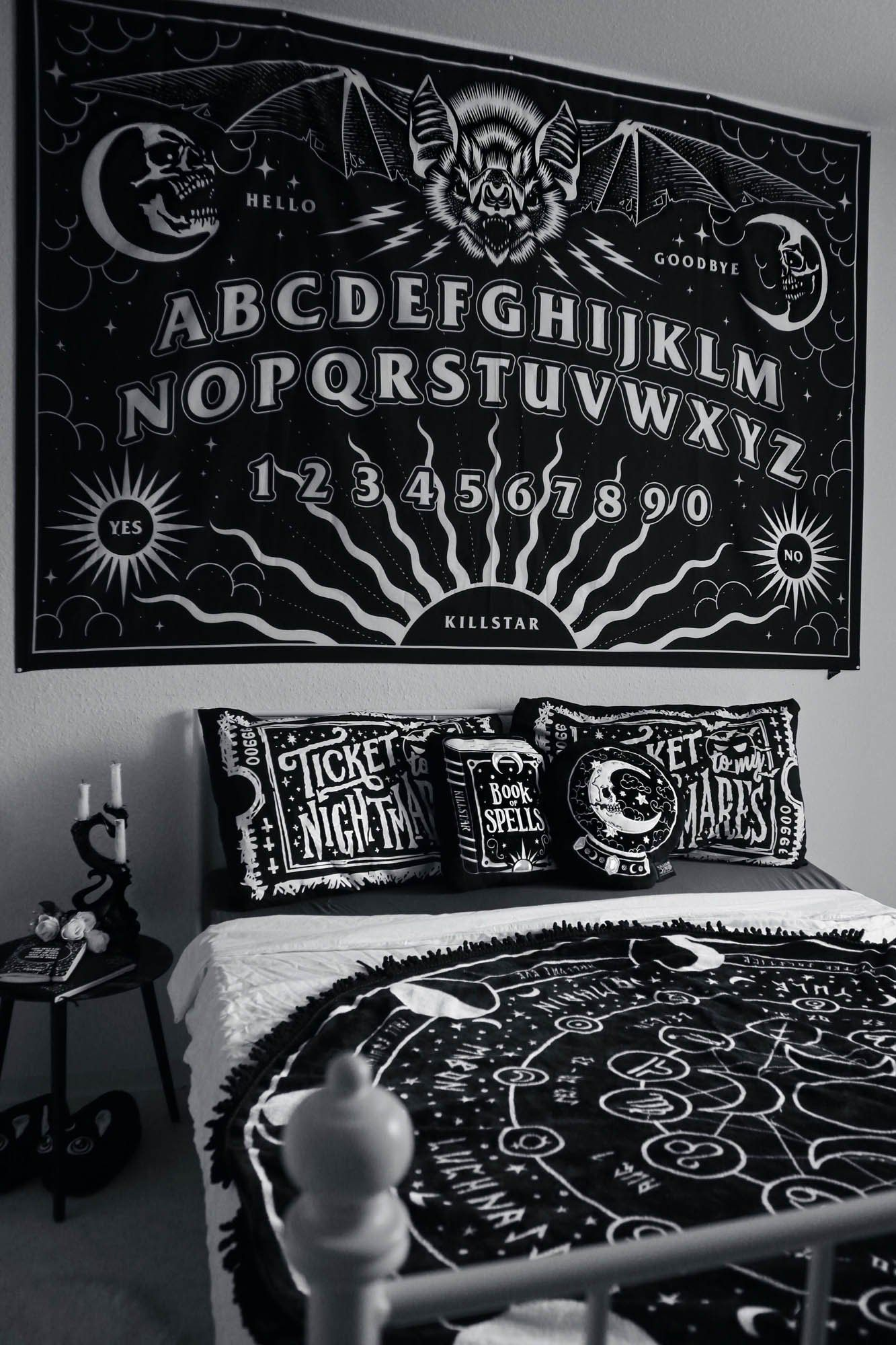 Spirit Board Tapestry One Size Black Goth Home Decor