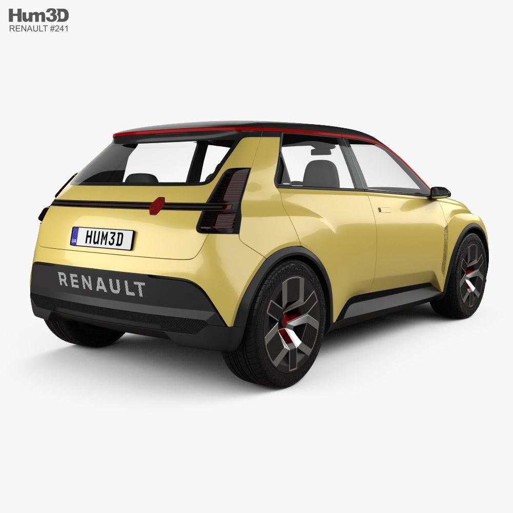 3d Model Of Renault 5 2021 In 2021 Renault 5 Renault 3d Model
