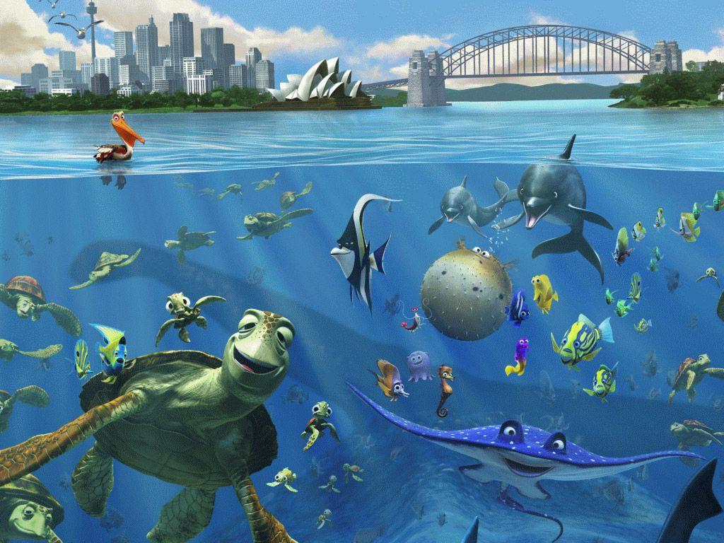 Nemo Et Dory Fond Ecran Fond D Ecran Anime Gratuit Papier Peint Disney