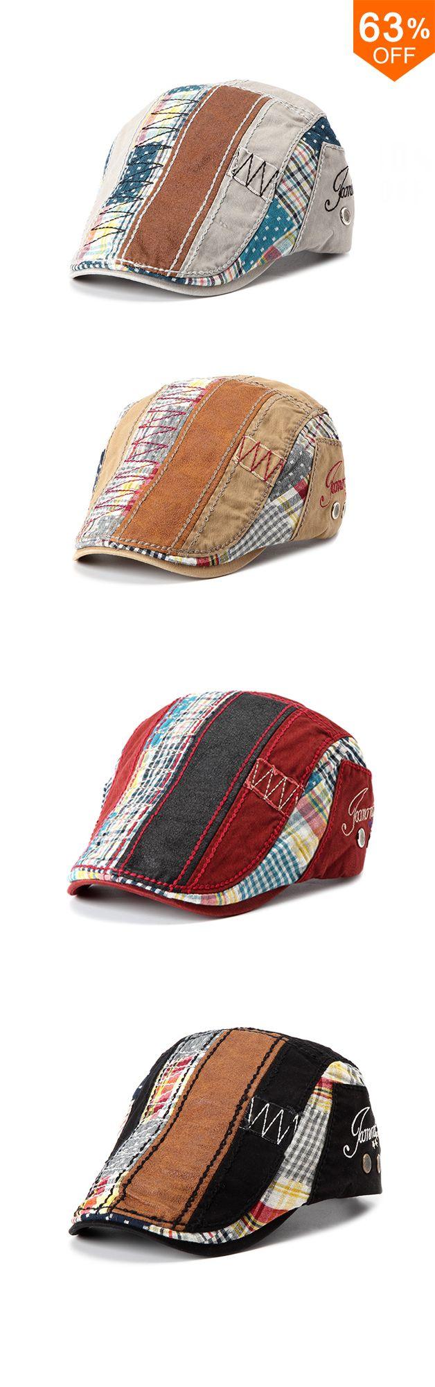 New Fashion-Men Women Cotton Washed Beret Hat Buckle Adjustable Paper Boy  Newsboy Cabbie Golf Gentleman Cap 4892c4308720