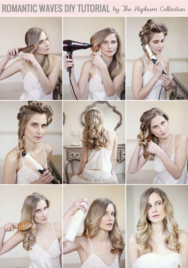 Romantic Waves Hair Tutorial By The Hepburn Collection Hair Tutorial Hair Waves Long Hair Styles