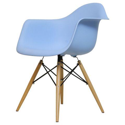 Eames DAW PP blue arm shell chair shell chair dining chair