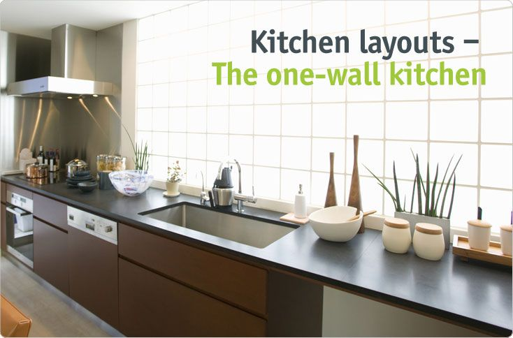 One Wall Kitchen Layout With Island Amp Decor Ideas Cabinet Malaysia