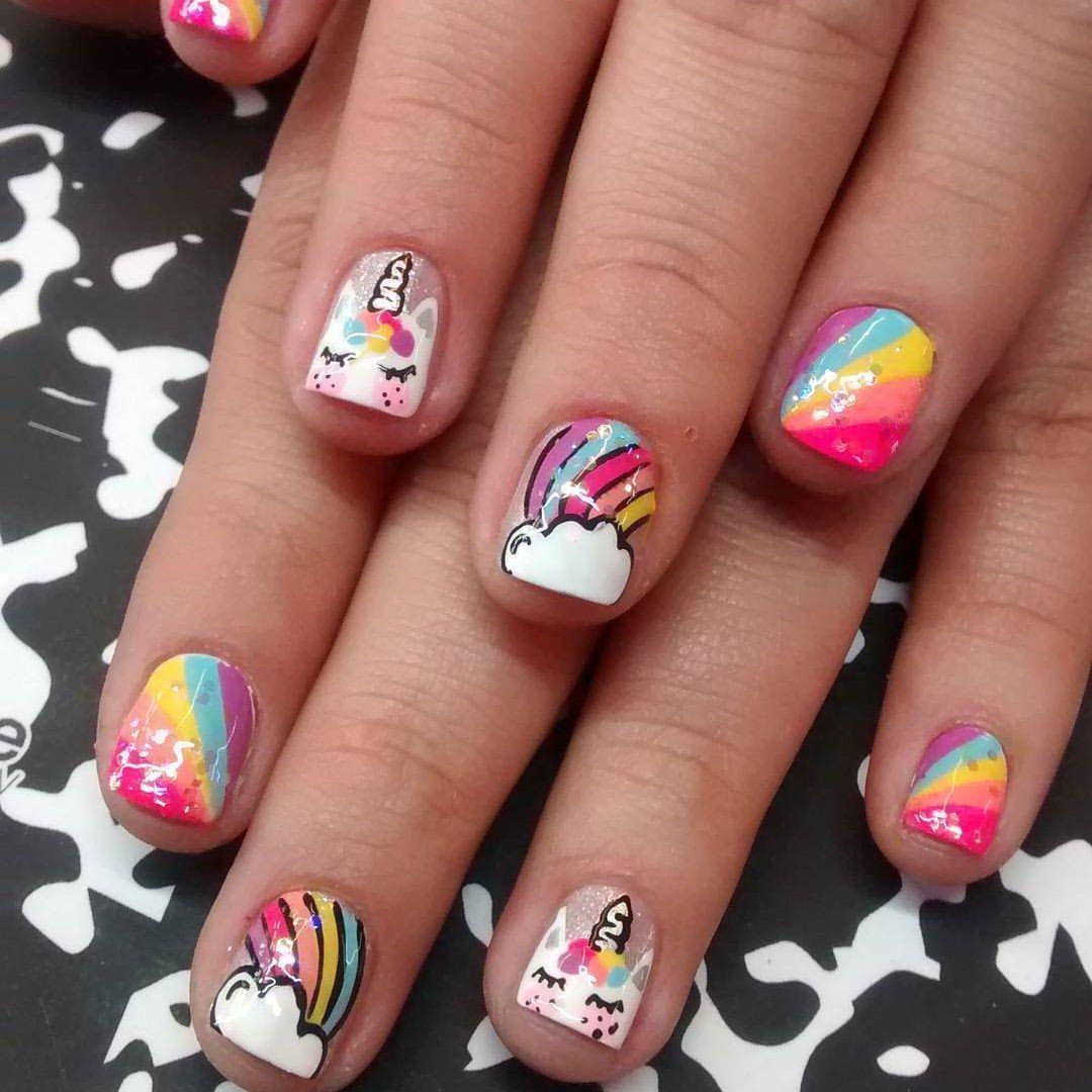 Manicure uñas cortas para niñas