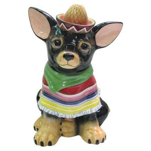Chihuahua Cookie Jar Simple Mexican Chihuahua Dog Fiesta Sombrero Cookie Jartoo Cute Review
