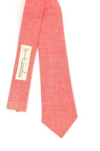 coral tie wedding mens skinny necktie