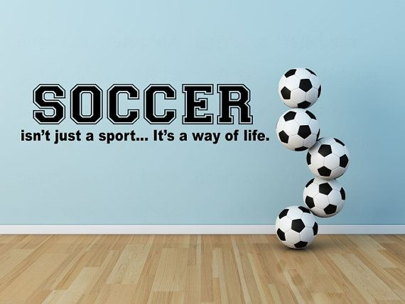 Soccer Wall Decal Soccer Vinyl Wall Decal Bedroom Soccer Wall
